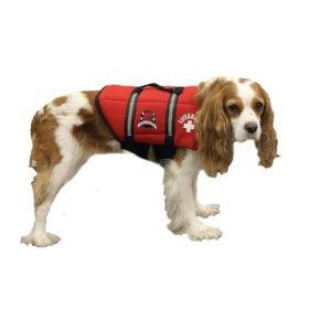 Paws Aboard Medium Neoprene Designer Doggy Life Jacket, Red Lifeguard