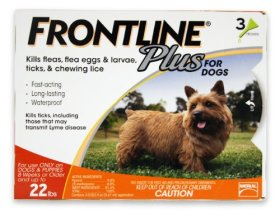 Merial Frontline Plus Flea and Tick Control for 0 to 22-Pound Dogs and Puppies, 3-Pack