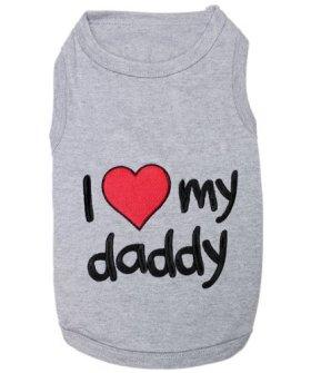 Parisian Pet I Love Daddy Dog T-Shirt, Small