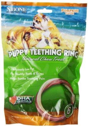 N-Bone 6-Pack Puppy Teething Ring, Pumpkin Flavor
