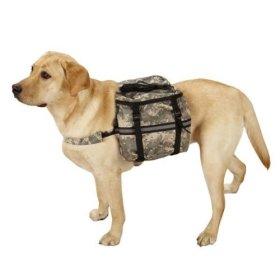 Casual Canine ZW6214 08 43 Digital Camo Day Tripper Dog Backpack, Medium, Green