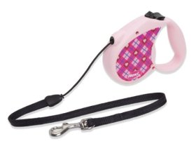 Flexi 16-Feet Retractable Lead with Lupine Pattern Puppy Love for Pets Up to 26-Pound