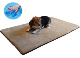 Durable Memory Foam Coral Fleece Luxury Waterproof Pet Dog Bed Mat pillow Topper XLarge 48″X30″ crate size