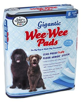 Four Paws Wee-Wee Gigantic Dog House Breaking Pads, 8 Pack