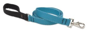 Eco by Lupine 1-Inch Recycled Fiber Padded Handle Leash for 6-Feet Medium to Large Dogs, Tropical Sea
