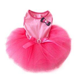 Urparcel Pet Cat Princess Tutu Dress Bow Bubble Skirt Puppy Clothes Dog Dress Apparel Pink XS