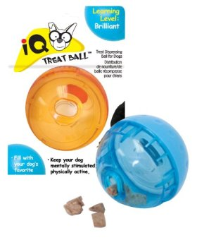 Our Pets Smarter Interactive IQ Treat Ball Dog Toy, 3 Inches (Colors may vary)