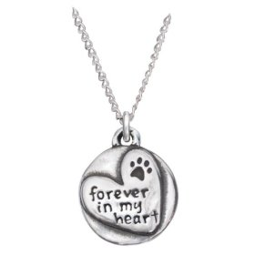 Rockin' Doggie Sterling Silver Necklace, Forever in my Heart