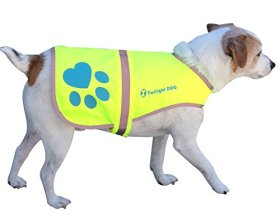 Reflective Dog Vest, Large. Neon Yellow Waterproof Velcro Jacket with Florescent Reflectors. Great Raincoat for Pet while PM Walking – Helps Reflect Car Lights for Safety. Can Also Be Used as Hunting Gear Dog Clothing for the Best Canine Protection and Visibility. Light Weight and Comfortable. You Will Rest Assured With Our K-9 Jacket for All Dogs