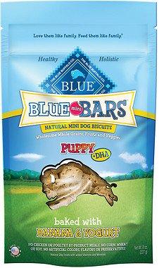 Blue Buffalo Mini Blue Bars Banana & Yogurt Puppy Biscuits 8 oz.