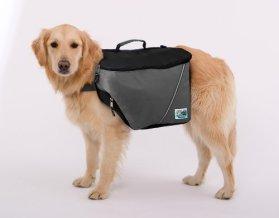 Doggles Dog Backpack, XXS, Gray/Black