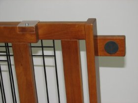 Freestanding Wood & Wire Pet Gate Size: Large/Wide Span