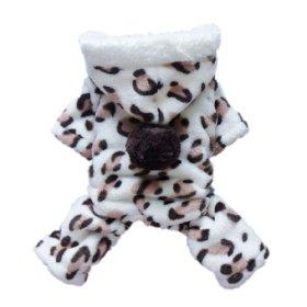 Adorable Leopard Dog Coat for Dog Hoodie Dog Clothes Soft Cozy Pet Clothes,L