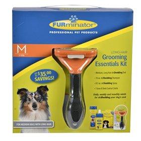 FURminator 101060 Grooming Essentials Kit for Pets, Medium, Long Hair