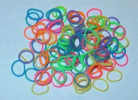 Latex Free Dog Grooming Bands by Fantasy Farm – 3/16″ (4.5 mm), Rainbow, 500 count
