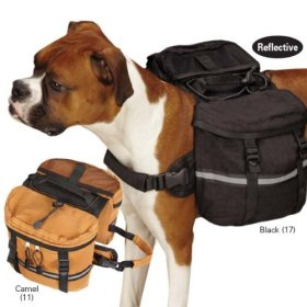 Zack & Zoey Cotton Duck Day Tripper Dog Backpack, Large, Tan