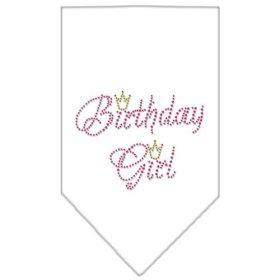 Mirage Pet Products Birthday Girl Rhinestone Bandana, Small, White