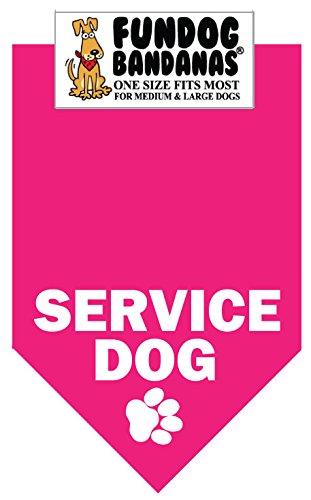 BANDANA – Service Dog for Medium to Large Dogs – hot pink