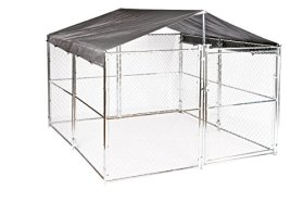 Weatherguard Universal Kennel Cover with Frame only, 10 by 10-Feet