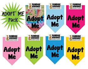 7 PACK BANDANAS – Adopt Me Pack, One Size Fits Most for Medium to Large Dogs