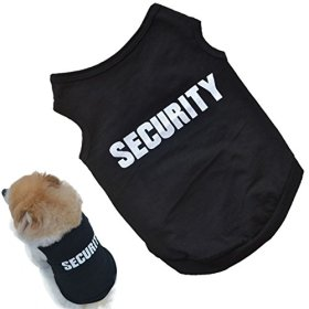 Small Dog Shirt, Voberry® Fashion Pet Puppy Clothes Summer Quote Security Cotton Costumes Pet Dog Cat Funny Shirt T Shirt Black (S)