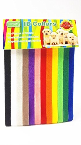 Pething Whelp Kitten Puppy Id Bands Velcro Collar 12 Colors Ajustable Size 13.4″ Dog Id Collar