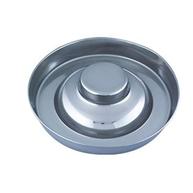 QT Dog Puppy Stainless Steel Saucer, 15″