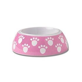 Pet Rageous 1 Cup Puppy Paws Non-Skid Melamine Bowl, 4″ x 2″, Pink