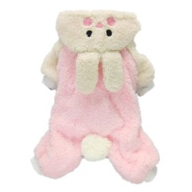 Adorable Bunny Halloween Dog Costumes Dog Hoodie Jumpsuit Dog Coat Pet Dog Clothes,Pink,S