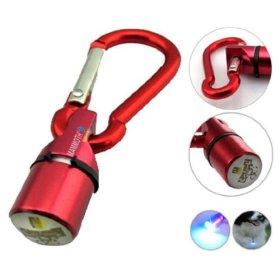 Museya Portable Waterproof Aluminum Pet Dog Cat Puppy LED Flashing Blinker Light Safety Collar Tag (Red)