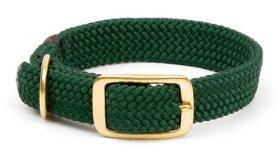 Mendota Products Double Braid Dog Collar, Hunter Green, 9/16 x 12-Inch
