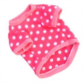 WXBUY Pet Dogs Fleece Fur Coat Clothes Puppy T-shirts Pink S