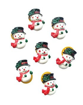 PET SHOW Xmas Snowman Puppy Dog Hair Bows Pet Cat Hair Accessories Grooming for Christmas Pack of 20