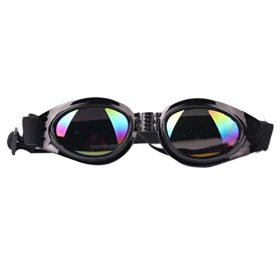 Voberry® Fashionable Cool Stylish Funny Cute Pet/dog Puppy Goggles Sunglasses Waterproof Protection Folding Goggles (Black)