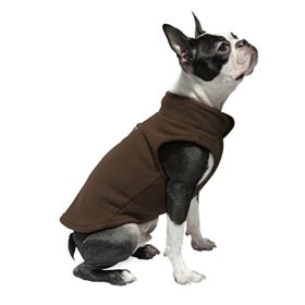Gooby Every Day Fleece Cold Weather Dog Vest for Small Dogs, Brown, Medium