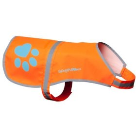 SafetyPUP XD Dog Reflective Vest. Sizes To Fit Dogs 22 lbs To 100 lbs. Blaze Orange Hi Vis Dog Vest Protects Dogs From Cars & Hunting Accidents. (Medium 35lbs – 60lbs)