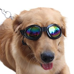 Pet Glasses Dog Sunglasses Dog Glasses Golden Retriever Samoyed Sunglasses Goggles Big Dog Sunglasses (Black)