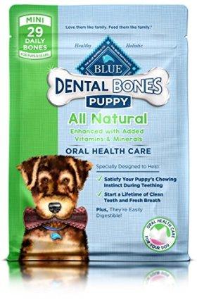 Blue Buffalo Blue Bones Mini Size Dental Chews for Puppies, 12 Ounce Bag