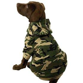 Dog Sweatshirt – Fits Dogs (50 – 60 Lbs) – GreenCamo/XL