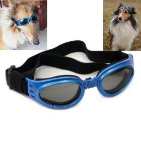 Namsan Blue Framed Dog/Cat Puppy UV Protection Goggles Sunglasses Eyewear Pet Sun Glasses,Medium