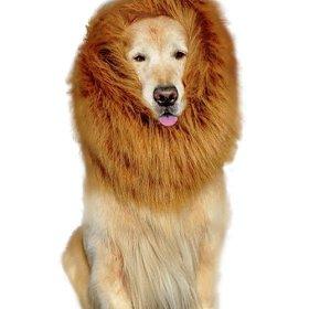 Urparcel Pet Dog Lion Wigs Mane Hair Party Fancy