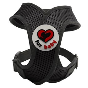 Best Choke-Free Dog Harness to keep your pet safe and comfortable. Harnesses are far superior to a collar to protect the neck and throat of your pet. Sizes for small dogs breeds and puppies. High quality similar to Puppia and Webmaster. Perfect to use in dog training or for a puppy. MEASURE YOUR DOG USING THE SIZE CHART IN THE IMAGES BEFORE BUYING. 100% Satisfaction Guarantee (Black, Large)