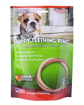 N-Bone Puppy Teething Ring Chicken Flavor (6 Pack)