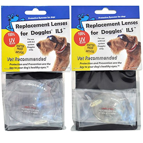Clear Replacement Lens for ILS Style Doggles, Size: M