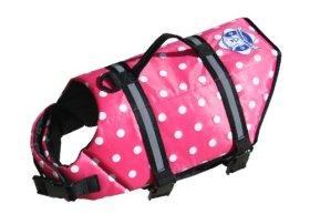 XXS Paws Aboard Doggy Life Jacket Pink Polka Dot