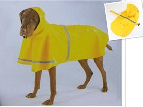 ECO High Quality Pet Rainy Days Slicker Raincoat Poncho with Safe Reflective Strip for Small Medium & Large Dogs-Yellow L#