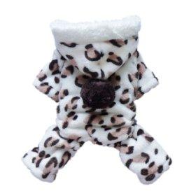 Adorable Leopard Dog Coat for Dog Hoodie Dog Clothes Soft Cozy Pet Clothes,XL