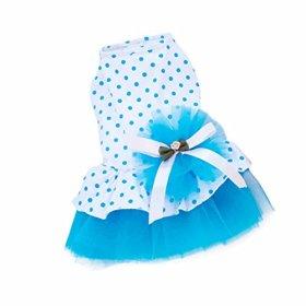 Pet Dog Dress,SJINC(TM) 2015 Romantic, Lovely, Puppy Dog, Princess, Tutu, Dress (S, Blue)