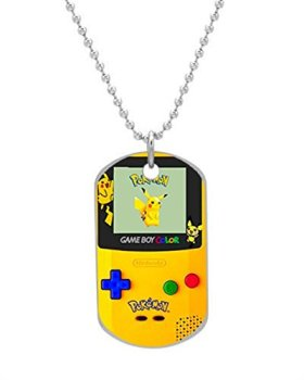 Pokemon Gameboy Pikachu Customized design personalized unique OvaL Dog Tag Pet Tag Cat Animal Tag necklace pendant Bead Chain
