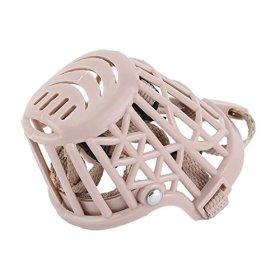 Adjustable Plastic Pet Dog Puppy Basket Cage Muzzle Stop Barking Biting Size #2
